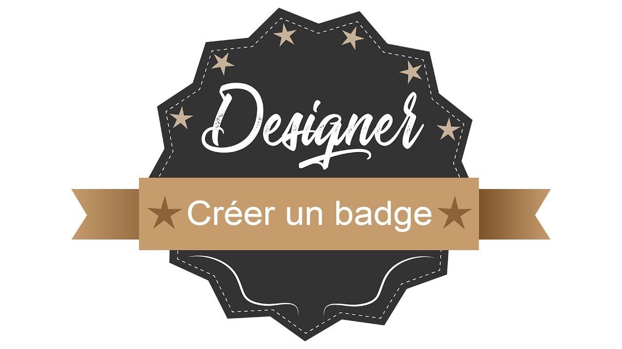 Créer un badge - Apprendre à utiliser les outils de base - Illustrator Tutoriel