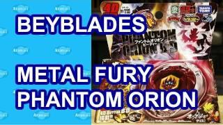 Beyblades Phantom Orion B:D Japanese Beyblade Metal Fury Toy Review