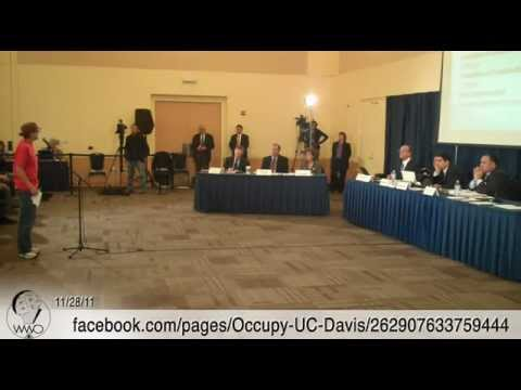 Occupy UC Davis Public Comments at Nov 28th UC Regents Meeting