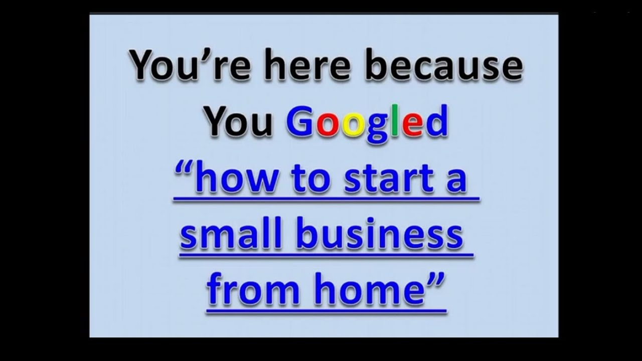 Charming Which Small Business To Start From Home Part - 1: How To Start A Small Business From Home | Best Business To Start 2017 -  YouTube