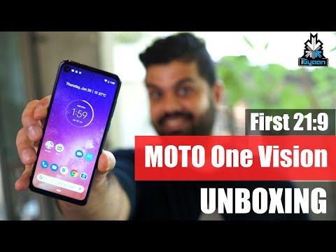 Motorola One Vision Unboxing, Punch Hole Camera, 21:9 !