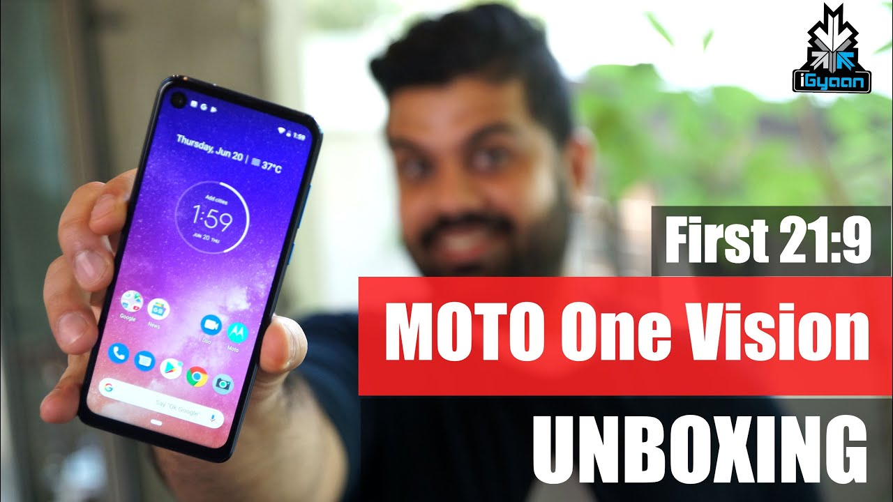 Download Motorola One Vision Unboxing, Punch Hole Camera, 21:9  !