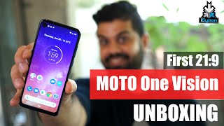 Motorola One Vision Unboxing, Punch Hole Camera, 21:9  !