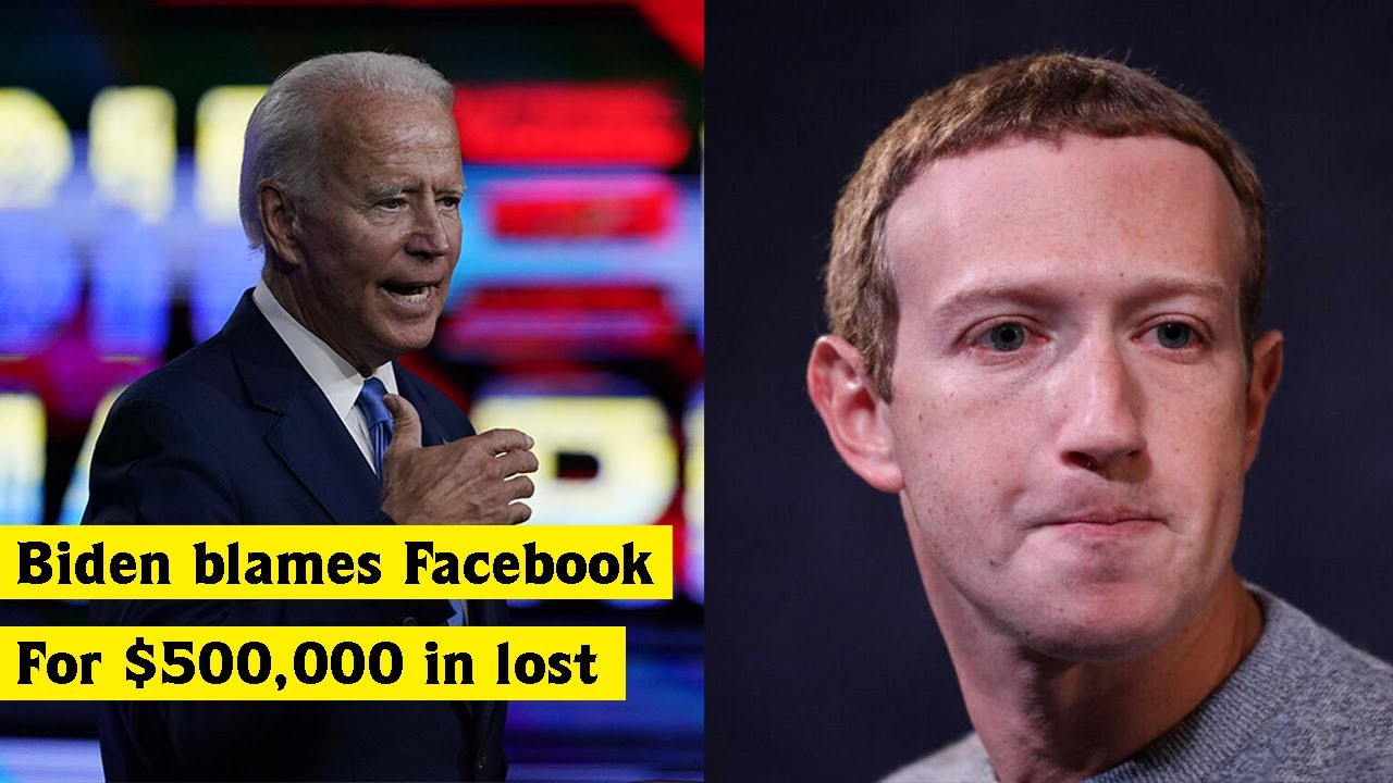 Biden campaign blames Facebook for $500,000 in lost fundraising | World News Today