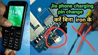 jio phone charging pin change||without soldring iron