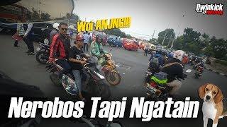 "Kesel! Udah Nerobos Teriak ""WOI ANJ*NG !"" #Jakartakerad  MC#52 - Motovlog Indonesia"