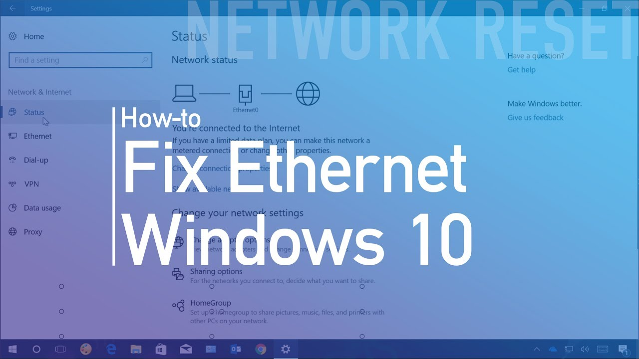 How to reset Ethernet (wired) network adapter on Windows 10 - YouTube