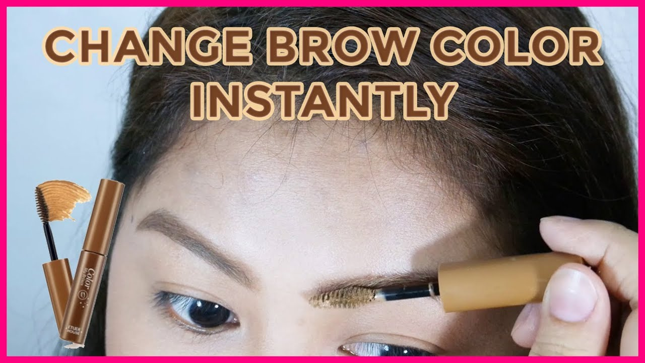 b5bb9762845 Etude House Color My Brows Review, Demo, & Wear Test - YouTube