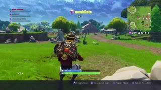 Playing Fortnite new jetpack and gold mode is back