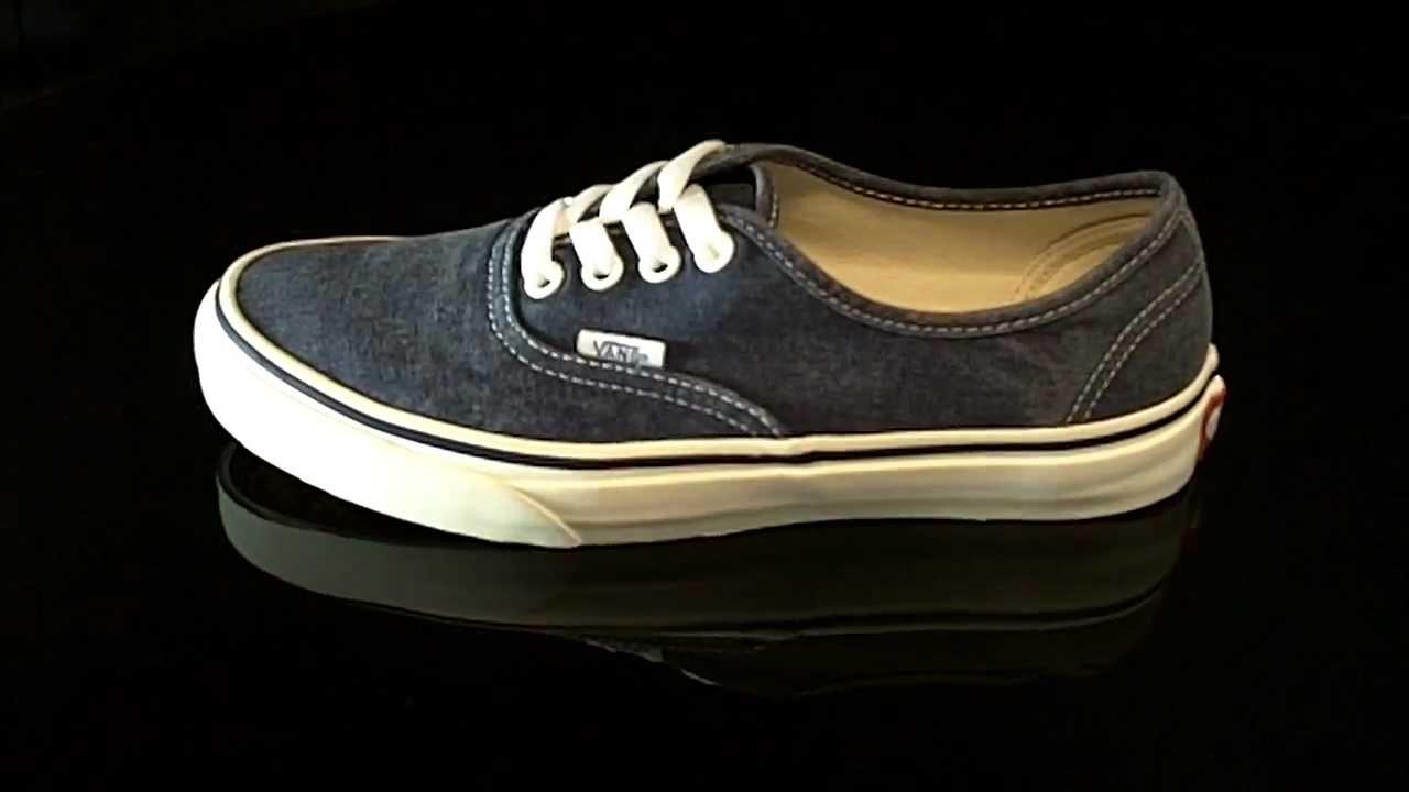 34de9ad3b2 Vans Authentic Washed Black VQER4JT - YouTube