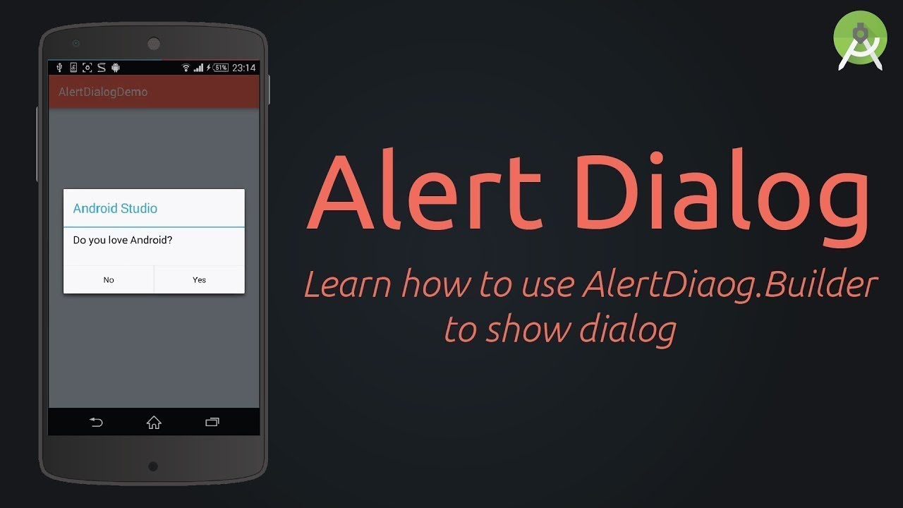 Android Tutorial 5 : Alert Dialog Interface