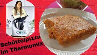 Schüttelpizza aus dem Thermomix | Pizza leicht gemacht ohne Gehzeit und Hefe | ThermoMixenmitClaudia
