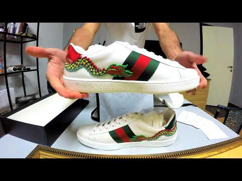 e4736c34ea7 Unboxing Gucci Ace Sneakers (Patch)   Princetown Slippers - Gucci Haul