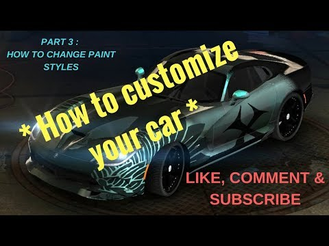 How to customize your car (Tutorial part 3 - choosing type of paint and using pearl paint)