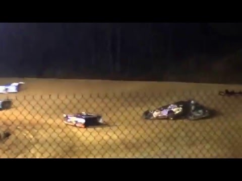Crash at Baker, FL Northwest Florida Speedway Crate Late Model Race