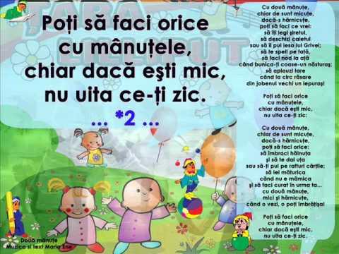 DOUĂ MÂNUȚE – Cantece pentru copii in limba romana