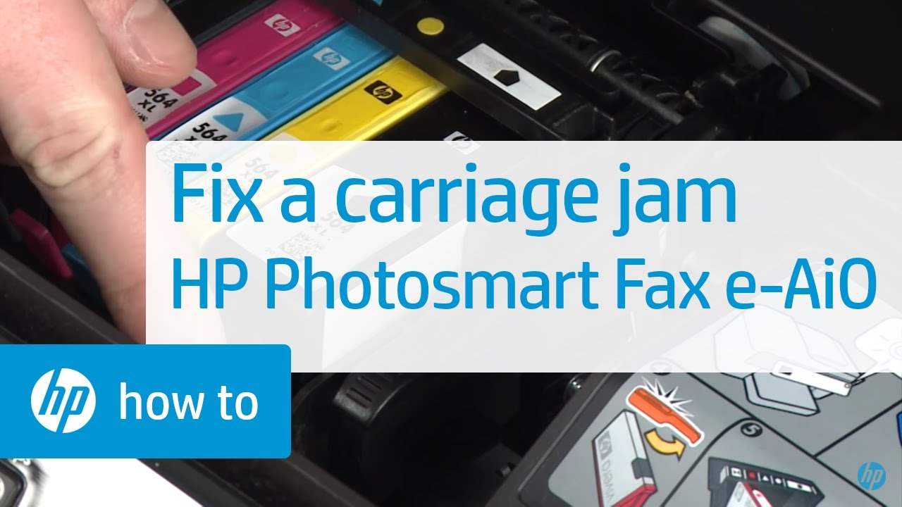 Fixing A Carriage Jam Hp Photosmart Premium Fax E All In