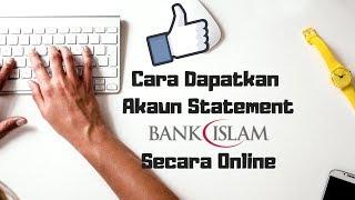 Cara Print Bank Statement Bank Islam Online