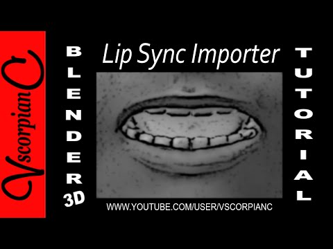 Blender 3D Tutorial - Beginners, How to Use the Lip Sync Importer Add-On by VscorpianC