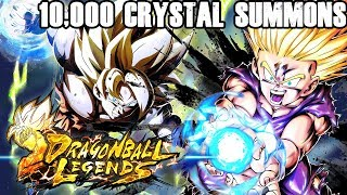 BRAND NEW GOHAN SUMMONS IN LEGENDS!! | 10,000 CHRONO CRYSTALS USED! | DRAGON BALL LEGENDS