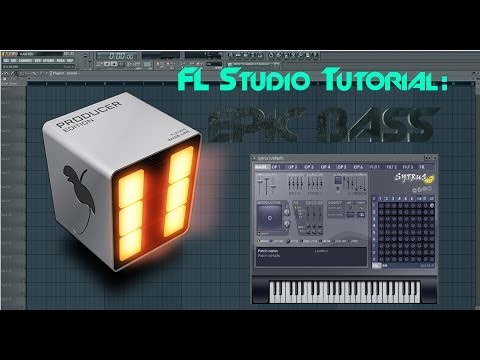 FL Studio Tutorial: How to make an EPIC BASS [German] - Electro House