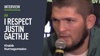 Khabib says Justin Gaethje once HELPED with weight cut!