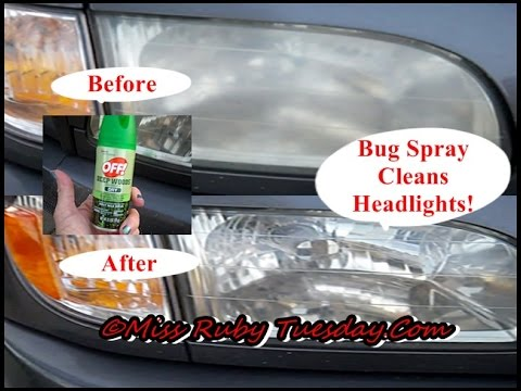 Miss Ruby Tuesday-  Bug Spray Cleans Headlights!