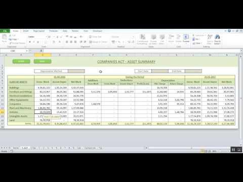 Depreciation cum Fixed Asset Software