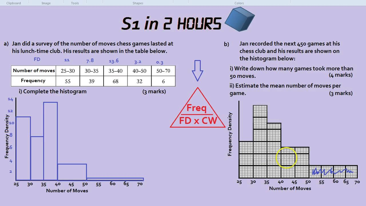 how to get quartiles from density histogram