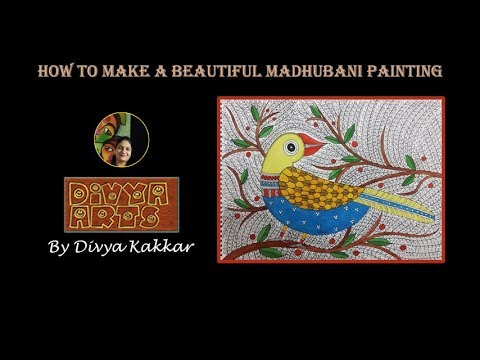 How To Make A Beautiful Madhubani Painting | Madhubani Folk Painting Tutorial