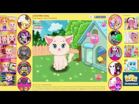 trò chơi chăm sóc, trang điểm cho mèo xinh