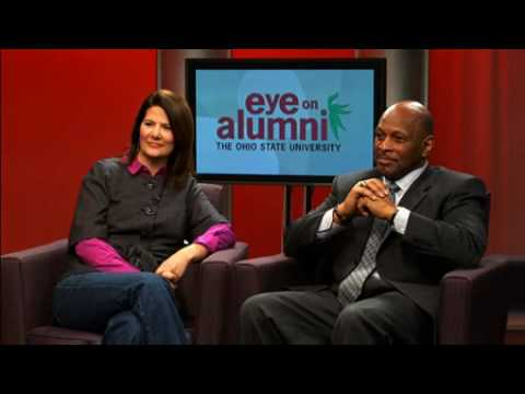 Archie Griffin and Stefanie Spielman take questions from Ohio State alums
