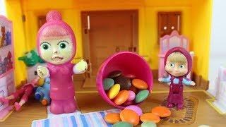 Maşa Oyuncaklarını Bulamıyor Maşa Şeker Yiyor Renki Şekerler Maşa İzle