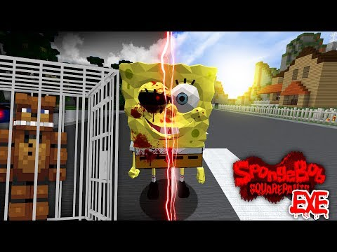 Minecraft - SPONGEBOB.EXE WANTS REVENGE AT FIVE NIGHTS AT FREDDY'S HOTEL !!