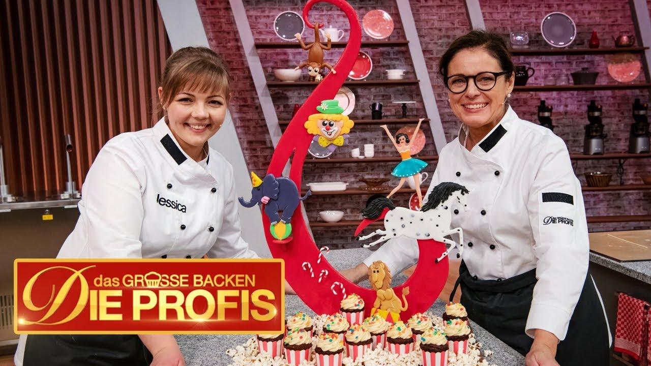 XXL-Zirkus-Kuchen: 15 Kilo Schokolade in einer Torte | (1/2) | Das große Backen – Die Profis | SAT.1