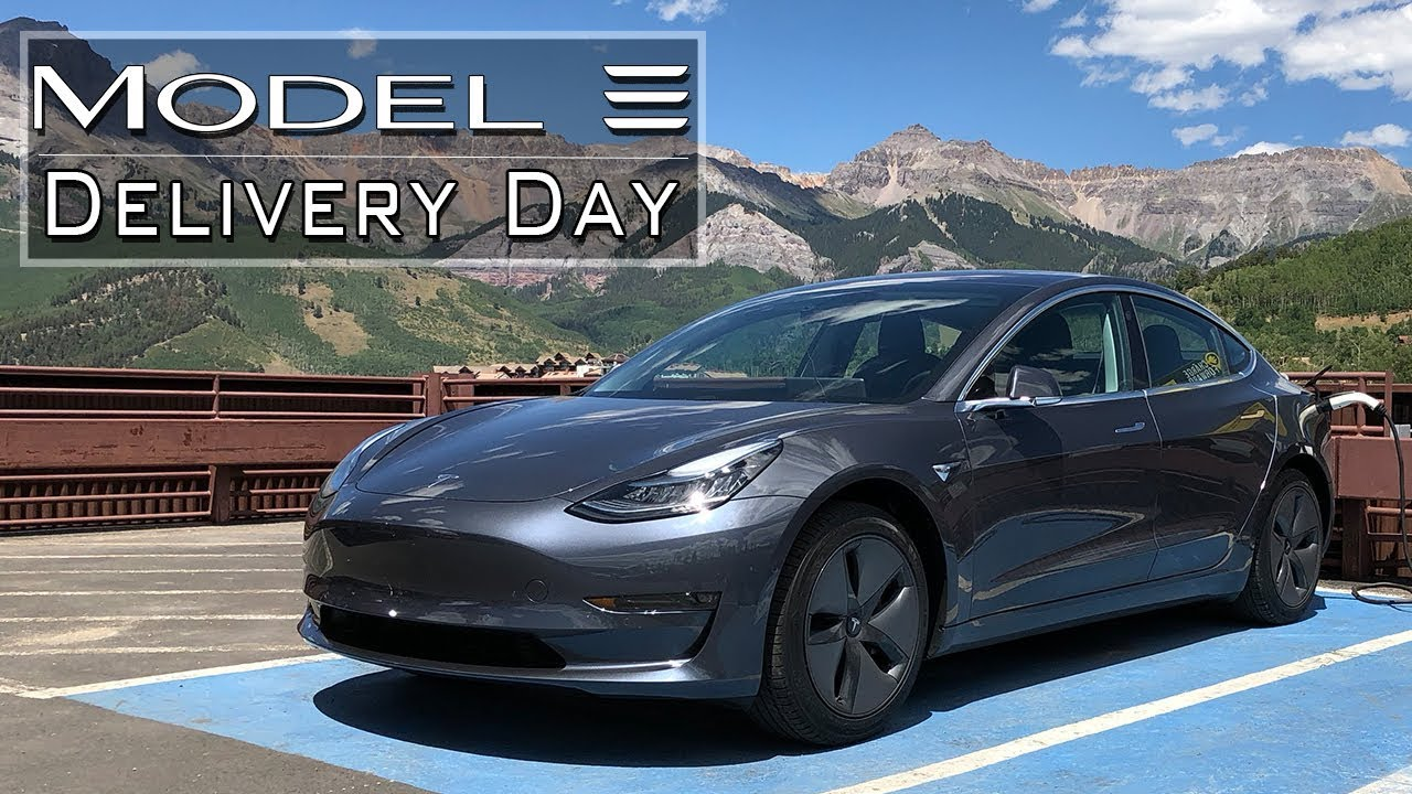 Tesla Model 3 Delivery Day! - YouTube