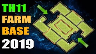 BEST TH11 FARMING BASE 2019 with REPLAYS 2 CLASH OF CLANS war clash
