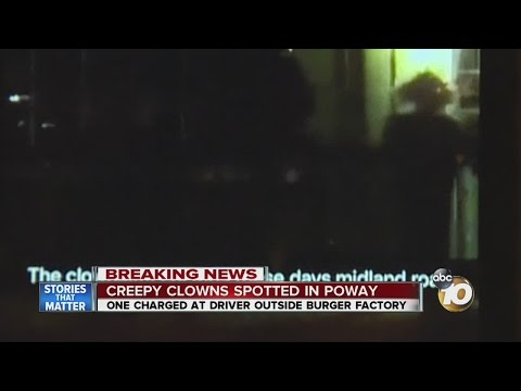 Creep clowns spotted in Poway