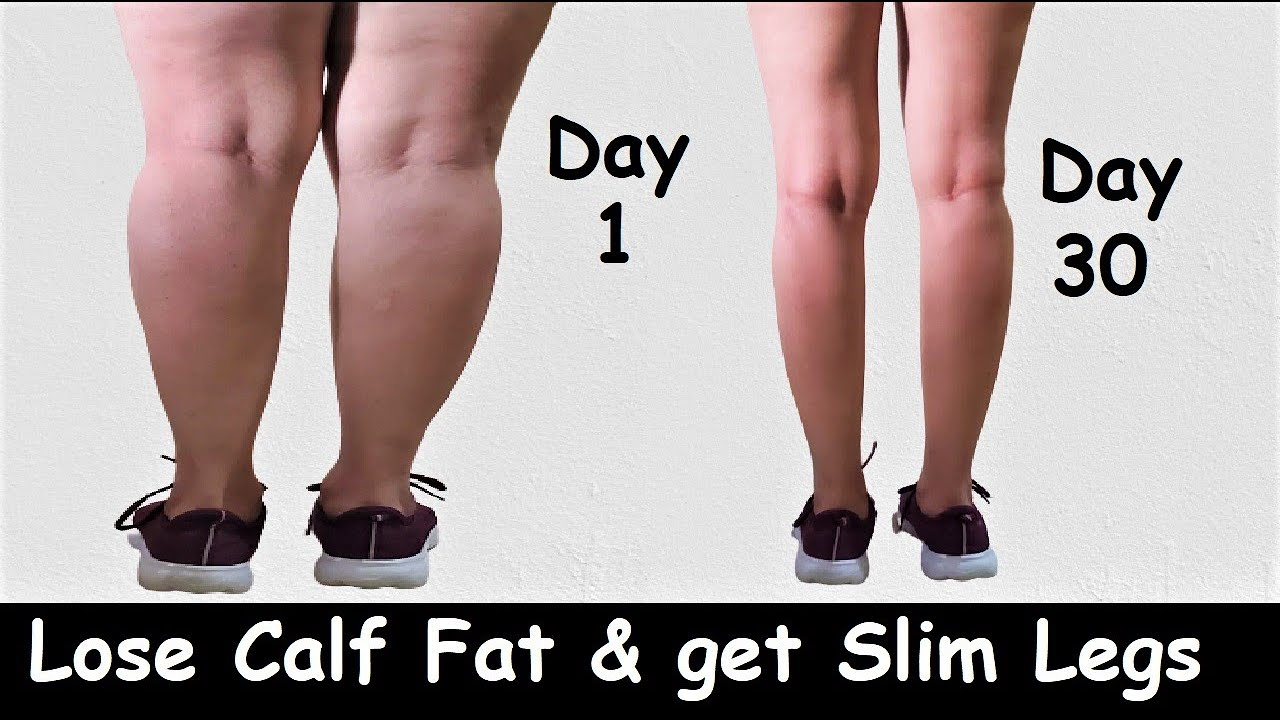 Lose Calf Fat & Get Slim Legs in 30 Days | Easy Leg Exercise & Workout - Lose Leg Fat & Slim Calves