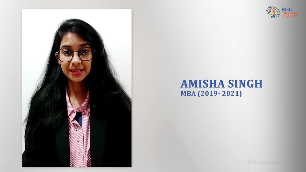 Student Testimonial   Amisha Singh   MBA (Batch: 2019-21)   Tata AIG