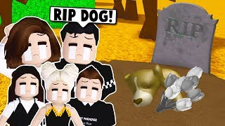MY DOG DIED ON BLOXBURG SO WE HAD A FUNERAL! (Roblox)