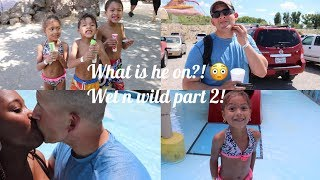 What is he on?! 😳Wet n Wild Part 2 💦  interracial family vlogs