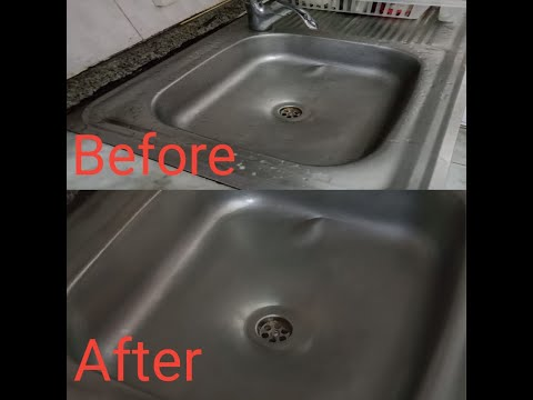How clean your kitchen stainless steel sink