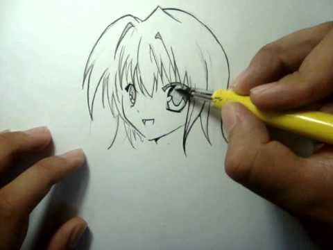 Tutorial Como Desenhar Manga Rosto Feminino Garota How To Draw