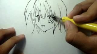 Tutorial Como desenhar mangá Rosto feminino(garota) How to Draw Manga Girl