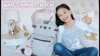 WHAT'S IN MY BACKPACK!!! 2018