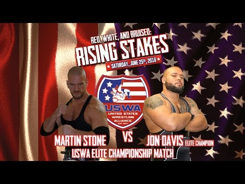 Martin Stone v Jon Davis (c) Elite championship - USWA Rising Stakes - 06/25/16 - Jacksonville FL