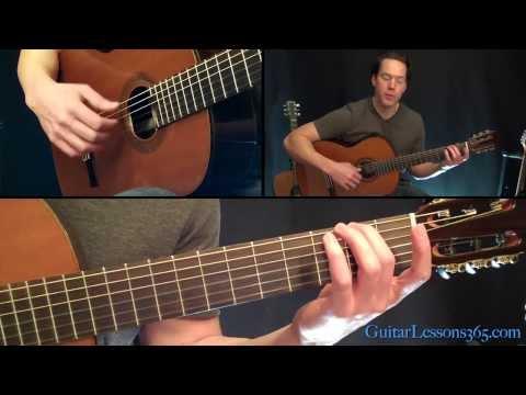 Classical Gas Guitar Lesson - Mason Williams - Part One