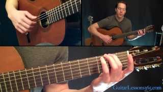Classical Gas Guitar Lesson - Mason Williams - Part One