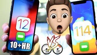 iOS 12 Vs iOS 11.4 INCREDIBLE Battery & Performance